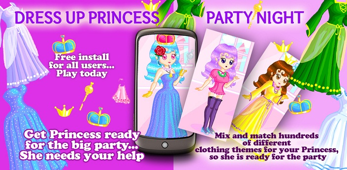 Dress Up Princess Party Night Feature