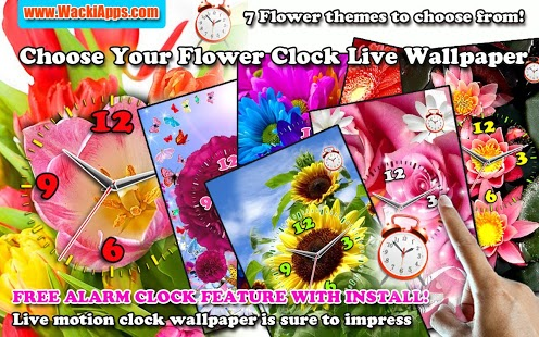 Choose Your Flower Clock LWP Feature