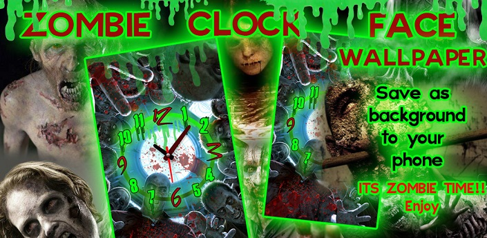 Zombie Face Alarm Clock LWP Feature