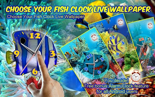 Choose Your Fish Clock LWP Feature