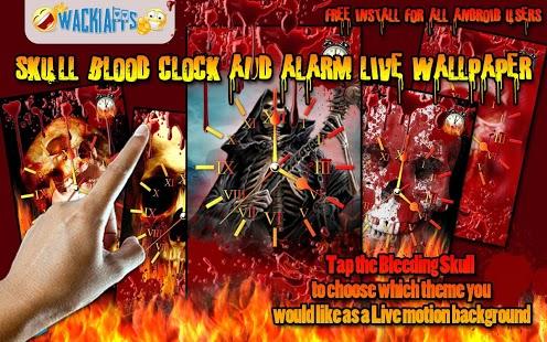 Skull Blood Clock n Alarm LWP Feature