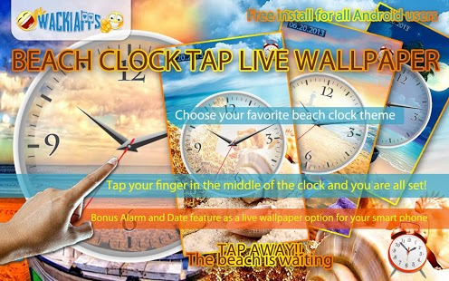 Beach Clock Tap Live Wallpaper Feature