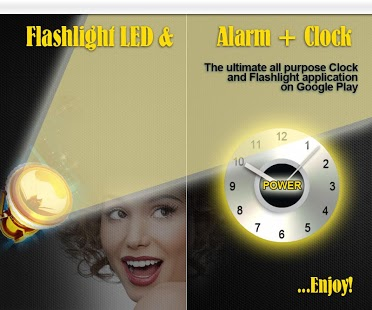 Bright Led Flashlight N Clock Feature