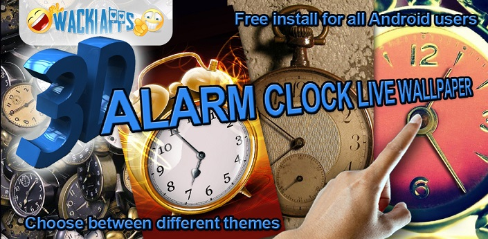 3D Alarm Clock Live Wallpaper Feature