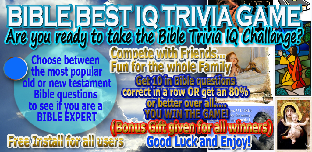 Bible Best IQ Trivia Game Free Feature