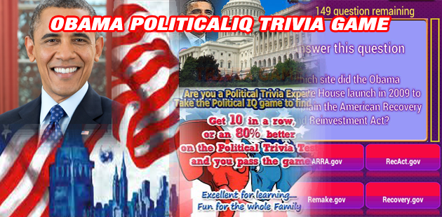 OBAMA POLITICAL IQ TRIVIA GAME Feature