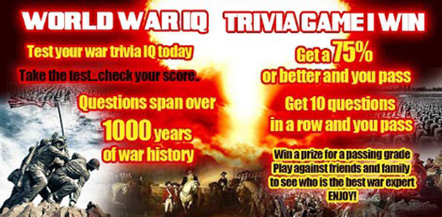 War IQ Test Trivia Game I Win Feature