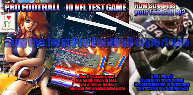 PRO FOOTBALL IQ TEST GAME Feature