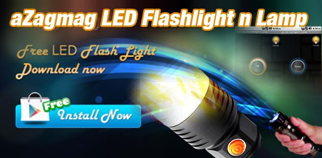 aZagmag LED Flashlight n Lamp Feature