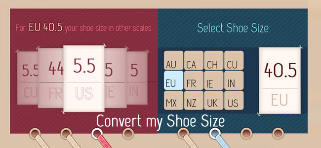 Convert my Shoe Size Feature
