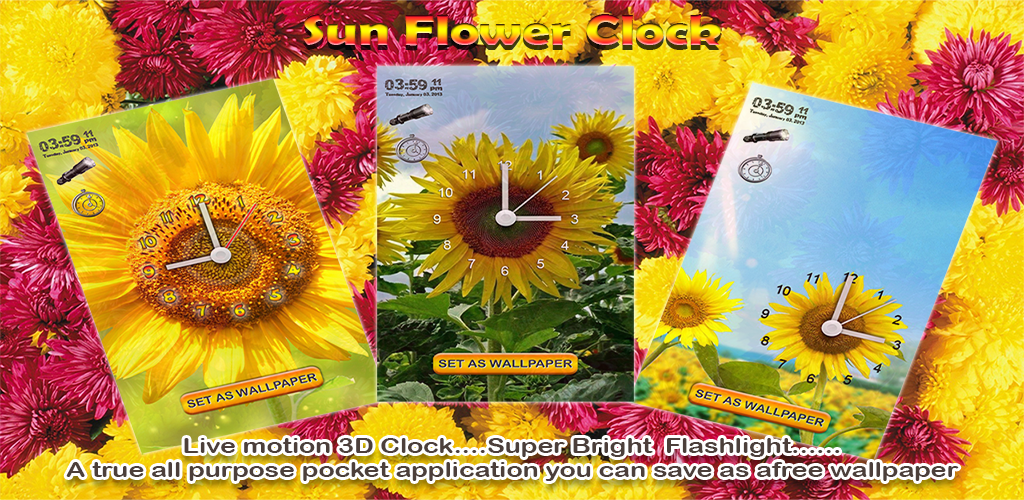 Sun flower alarm clock Feature